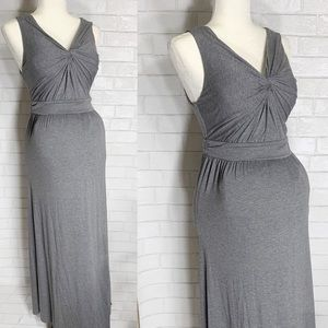 Motherhood Maternity long gray dress